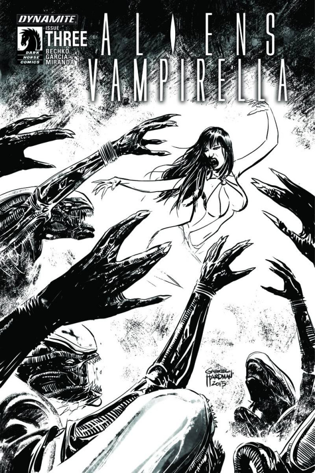 Aliens / Vampirella #3 (15 Copy B&W Cover)
