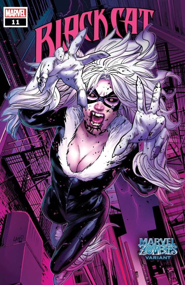 Black Cat #11 (Land Marvel Zombies Cover)