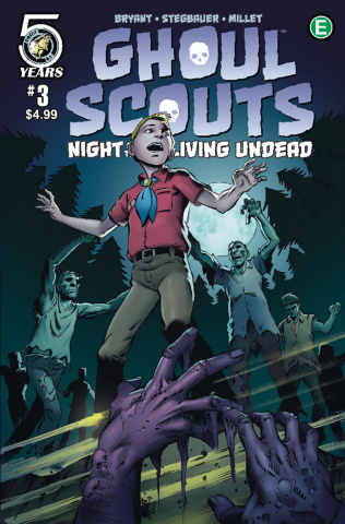 Ghoul Scouts: Night of the Unliving Undead #3 (Millet Cover)