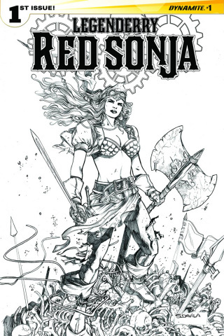 Legenderry: Red Sonja #1 (25 Copy Davila B&W Cover)