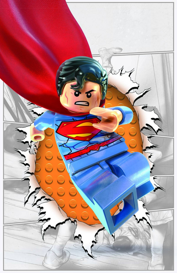 Action Comics #36 (Lego Cover)