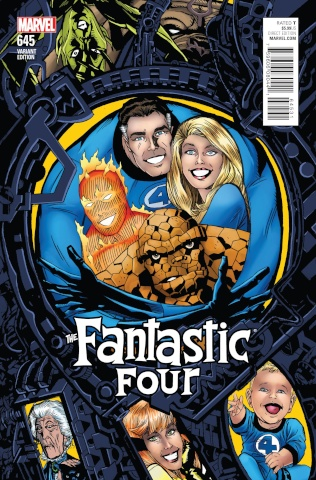 Fantastic Four #645 (Golden Connecting Cover)