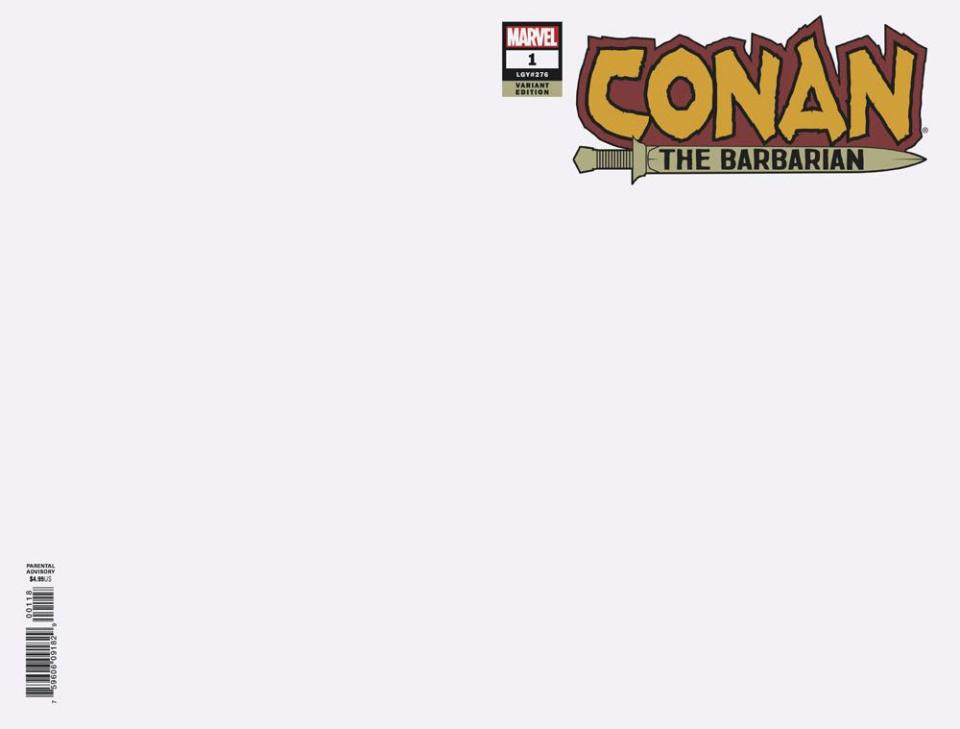Conan the Barbarian #1 (Blank Cover)