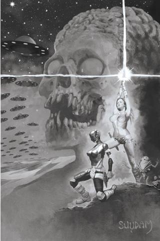 Mars Attacks / Red Sonja #3 (15 Copy Suydam Virgin Cover)