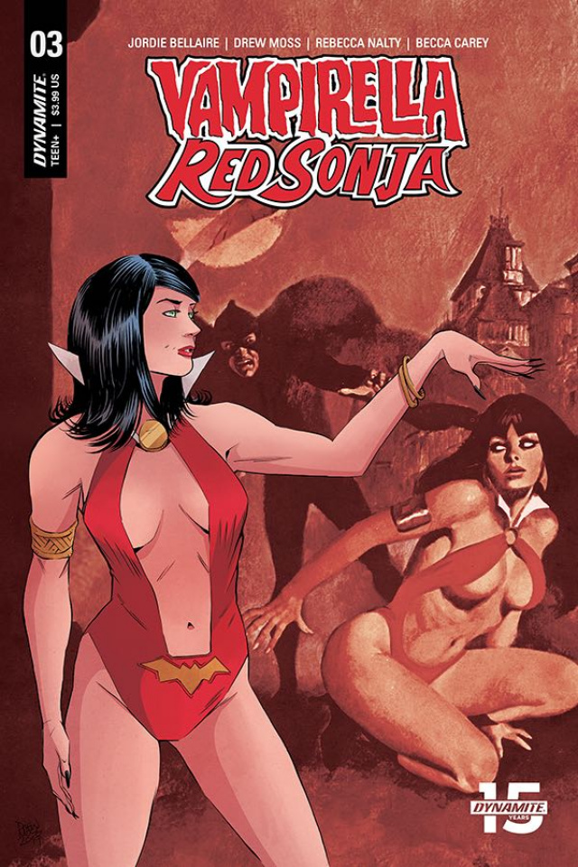 Vampirella / Red Sonja #3 (Moss Then & Now Cover)