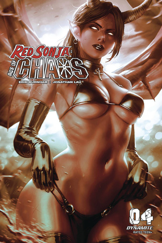 Red Sonja: Age of Chaos #4 (20 Copy Chew Monochromatic Cover)