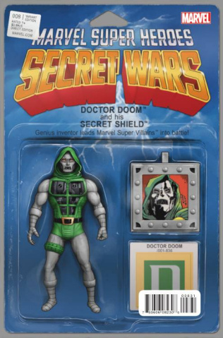 Secret Wars #8 (Christopher Action Figure Cover)