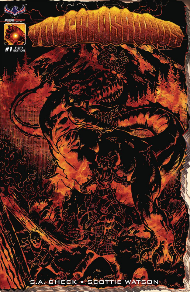 Volcanosaurus #1 (Fiery Retailer 3 Copy Cover)