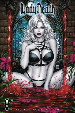 Lady Death: Malevolent Decimation #2 (Splash Cover)