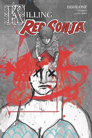 Killing Red Sonja #1 (20 Copy Ward Crimson Spot Color Cover)