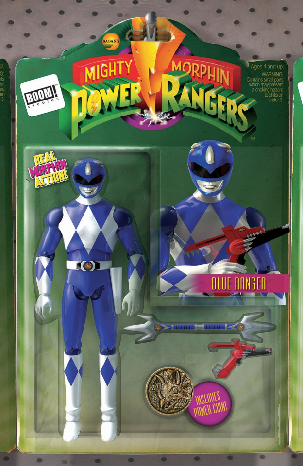 Mighty Morphin' Power Rangers #6 (Unlock Action Figure Cover)