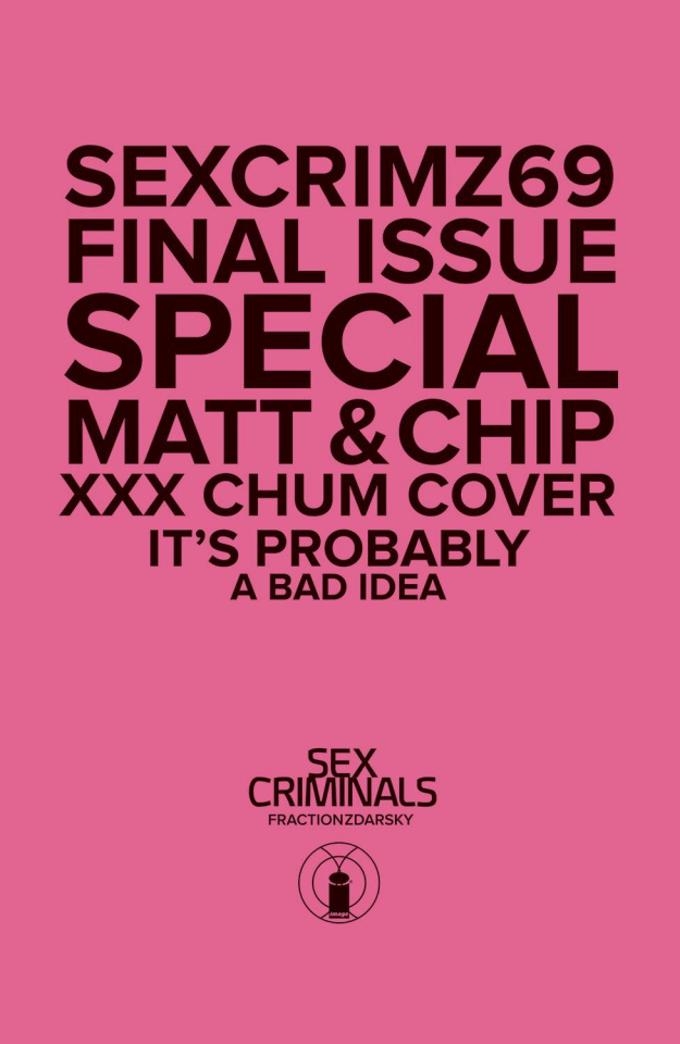Sex Criminals #69 (XXX Photo Cover)