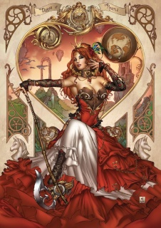 Grimm Fairy Tales: Steampunk Alice in Wonderland (Krome Cover)