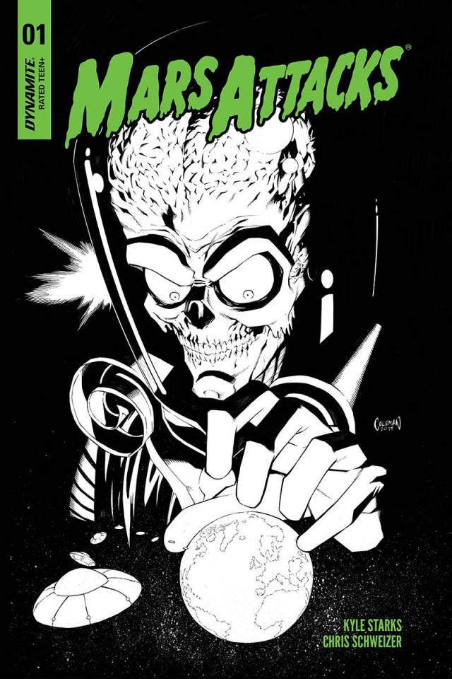 Mars Attacks #1 (30 Copy Coleman B&W Cover)