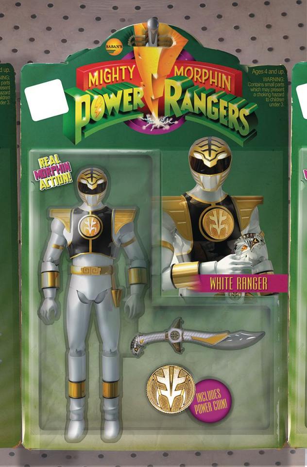 Mighty Morphin' Power Rangers #7 (Unlock Action Figure Cover)
