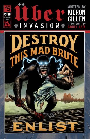 Über: Invasion #5 (Propaganda Poster Cover)