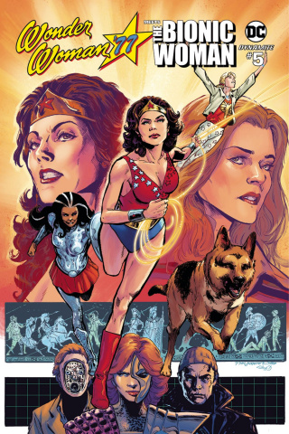 Wonder Woman '77 Meets The Bionic Woman #5 (Jimenez Cover)