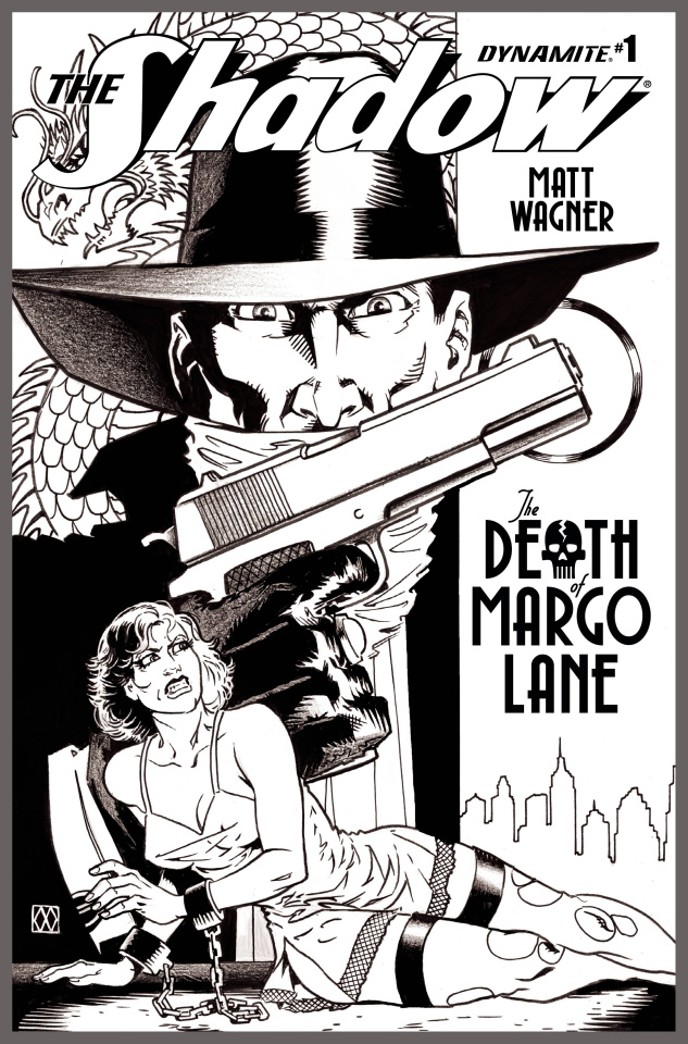 The Shadow: The Death of Margo Lane #1 (10 Copy B&W Cover)