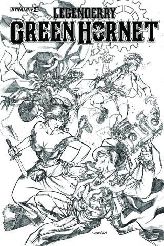 Legenderry: Green Hornet #4 (10 Copy Davila B&W Cover)