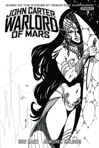 John Carter: Warlord of Mars #3 (10 Copy Sears B&W Cover)