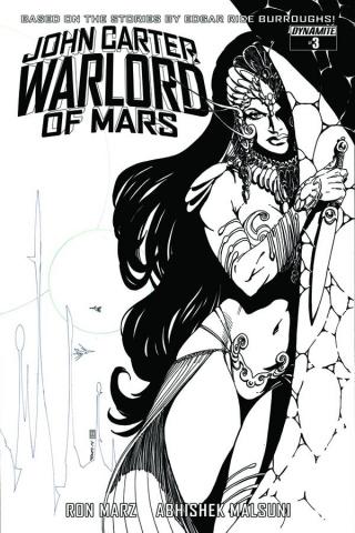 John Carter: Warlord of Mars #3 (10 Copy Sears B&W Cover)