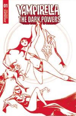 Vampirella: The Dark Powers #1 (Lee Crimson Red Line Art Cover)
