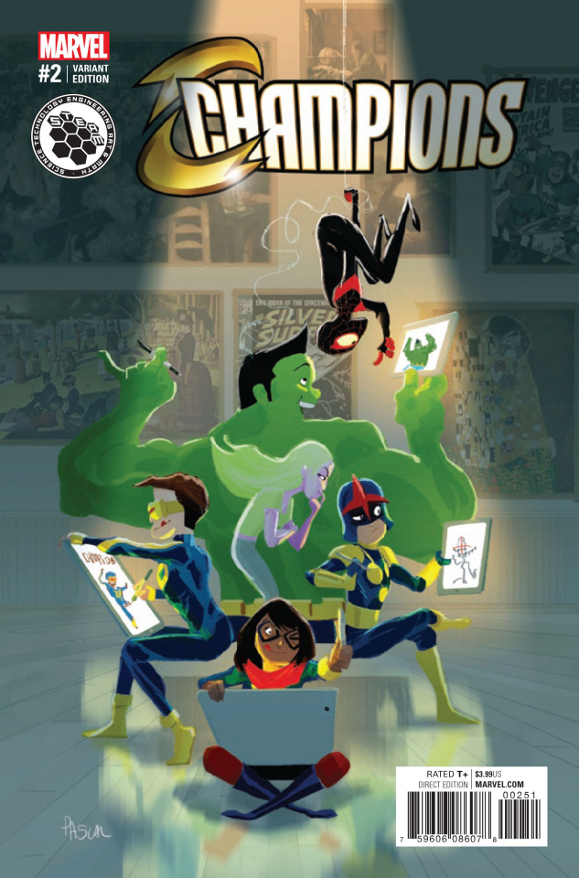 Champions #2 (Campion Steam Cover)