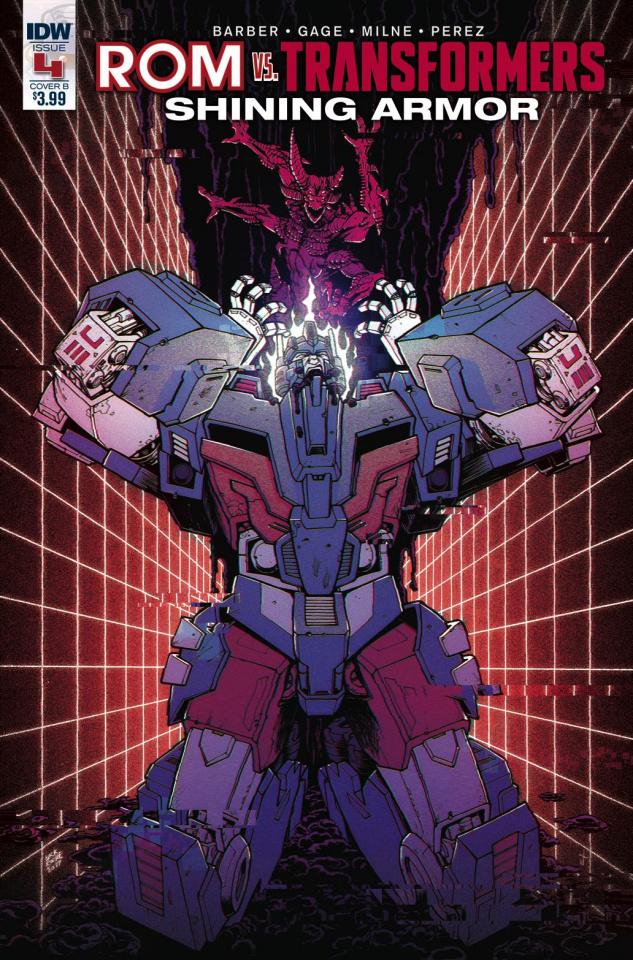 ROM vs. The Transformers: Shining Armor #4 (Roche Cover)
