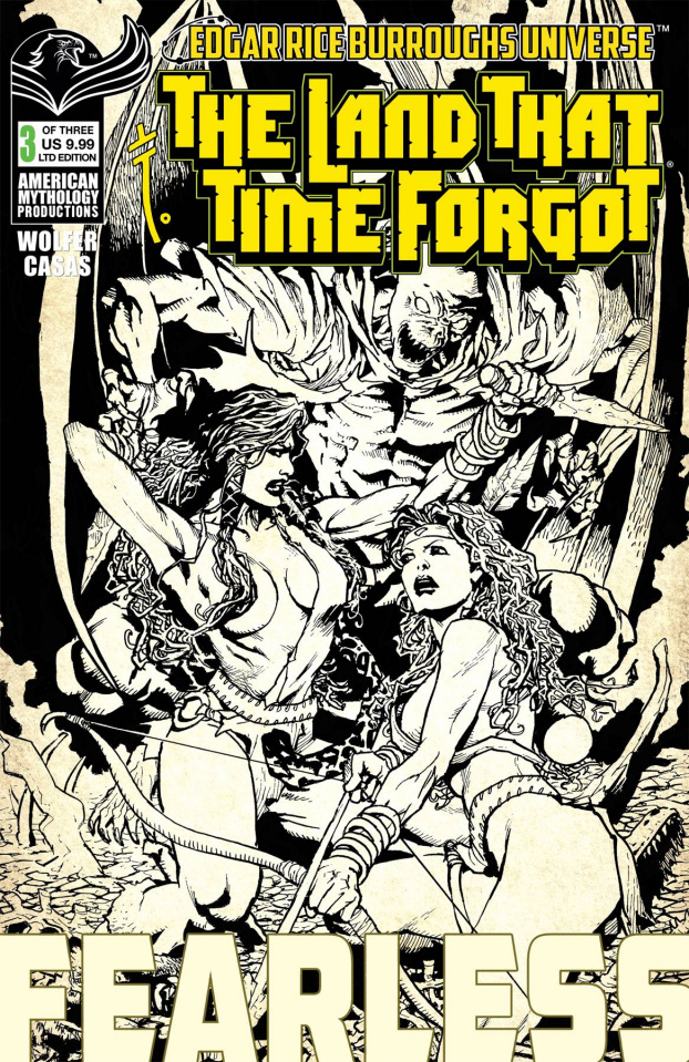 The Land That Time Forgot: Fearless #3 (B&W Cover)
