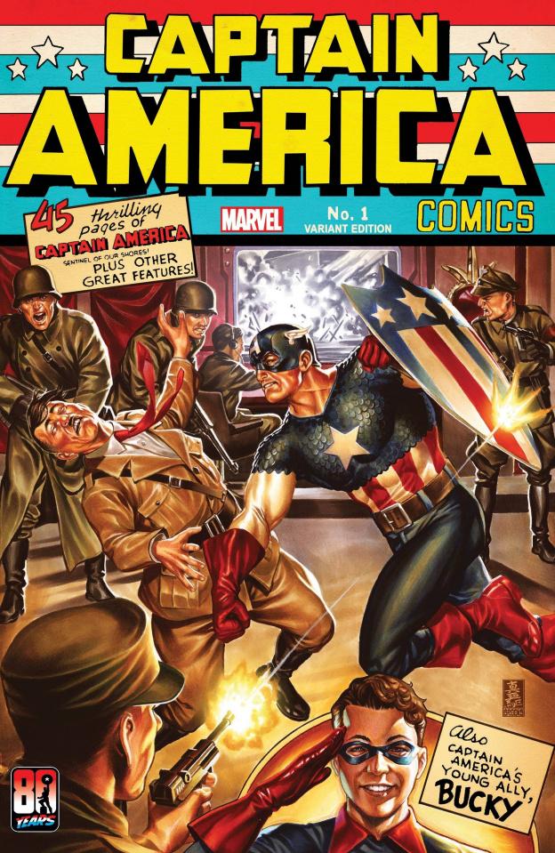 Captain America Anniversary Tribute #1 (Brooks Cover)