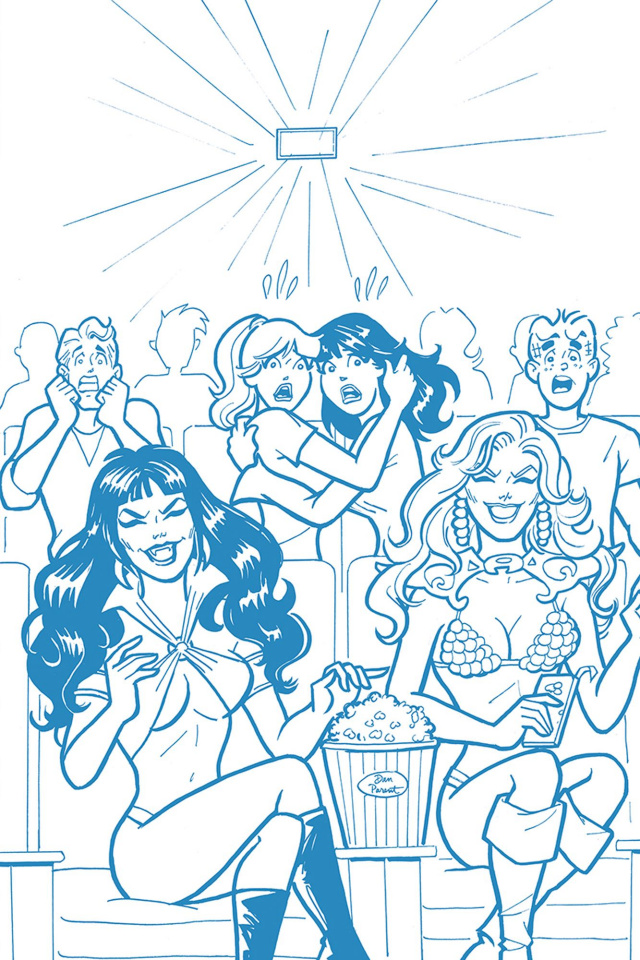 Red Sonja and Vampirella Meet Betty and Veronica #7 (21 Copy Parent Blue Cover)