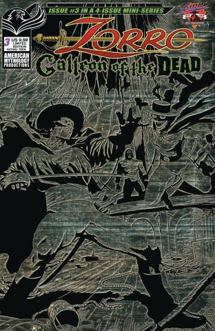 Zorro: Galleon of the Dead #3 (Pulp Cover)