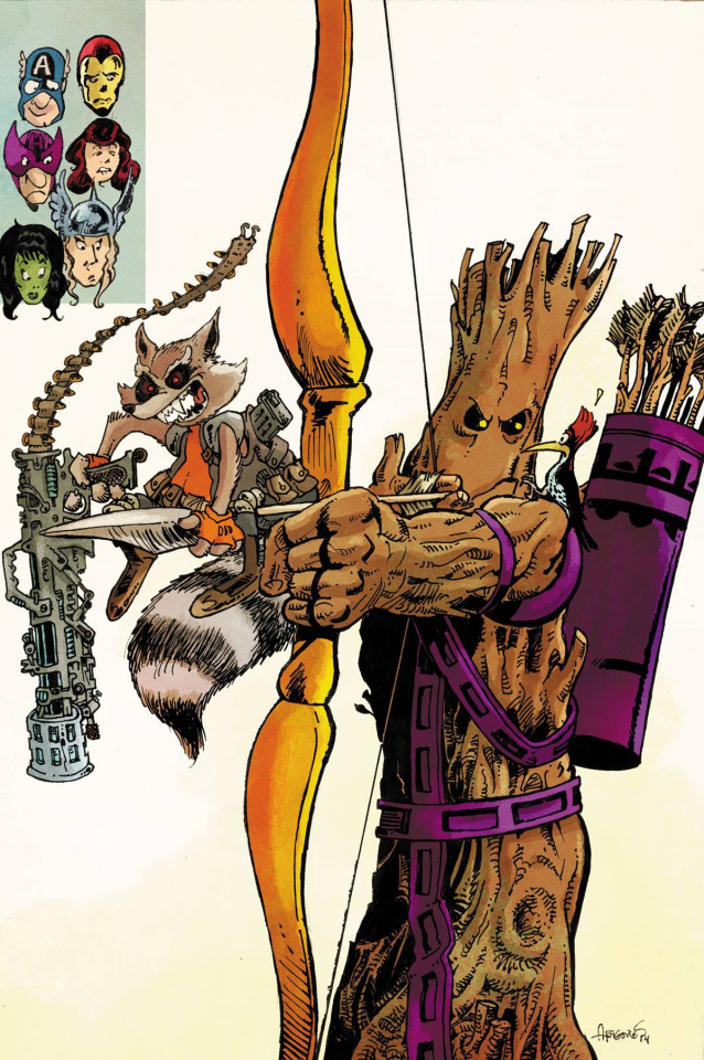 Avengers World #15 (Rocket Raccoon & Groot Cover)