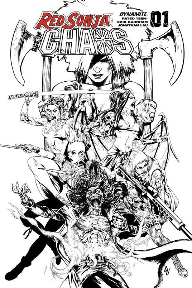 Red Sonja: Age of Chaos #1 (35 Copy Lau B&W Cover)