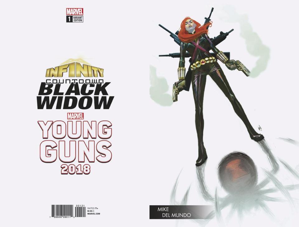 Infinity Countdown: Black Widow #1 (Del Mundo Young Guns Cover)
