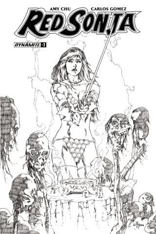 Red Sonja #7 (30 Copy Rubi B&W Cover)
