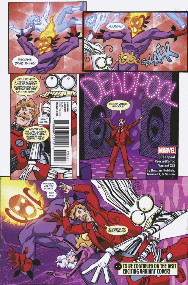The Despicable Deadpool #293 (Koblish Secret Comic Cover)