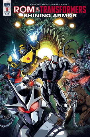 ROM vs. The Transformers: Shining Armor #1 (Milne Cover)