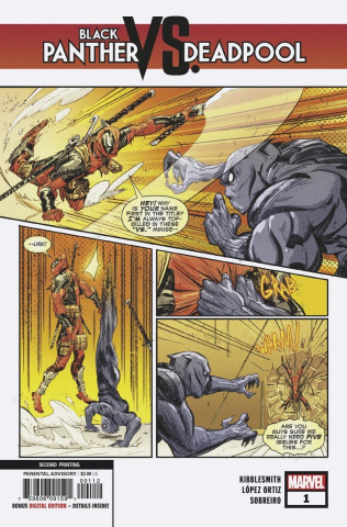 Black Panther vs. Deadpool #1 (Lopez Ortiz 2nd Printing)