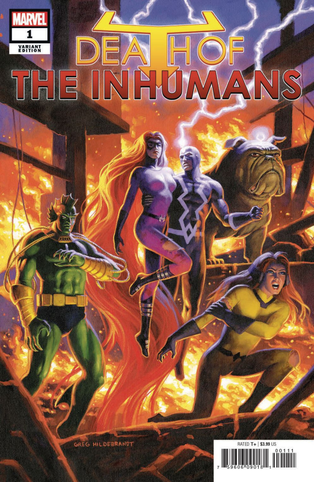 Death of the Inhumans #1 (Hildebrandt Cover)