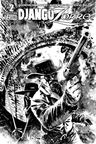 Django / Zorro #2 (25 Copy Hardman B&W Cover)