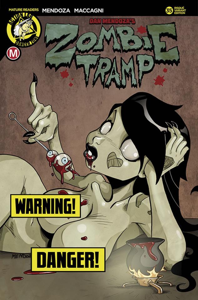 Zombie Tramp #35 (Mendoza Risque Cover)
