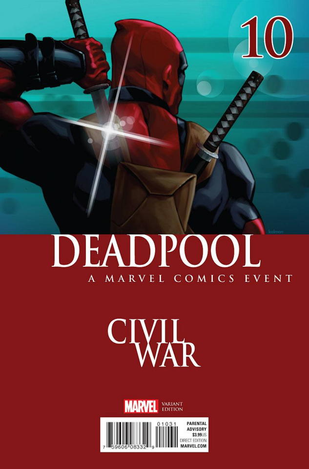 Deadpool #10 (Andrasofszky Civil War Cover)