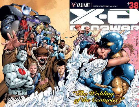 X-O Manowar #38 (Wraparound Sandoval Cover)