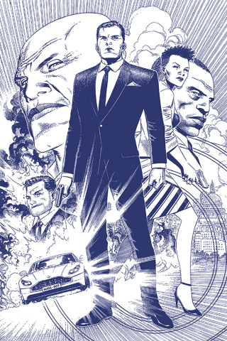 James Bond #1 (15 Copy Cheung B&W Tint Virgin Cover)