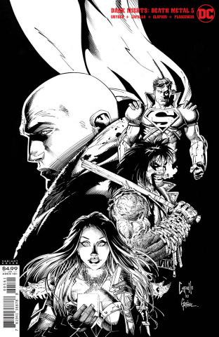 Dark Nights: Death Metal #5 (1:100 Greg Capullo & Jonathan Glapion Black & White Cover)