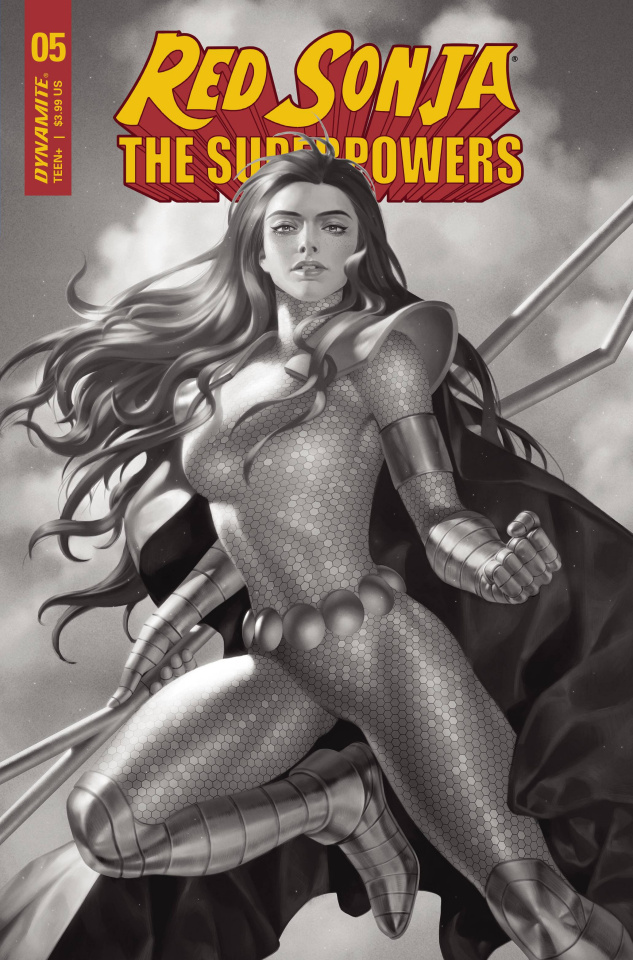 Red Sonja: The Superpowers #5 (Premium Yoon B&W Cover)