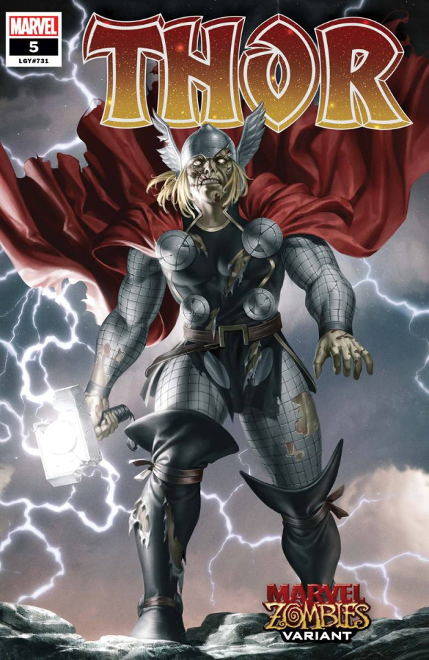 Thor #5 (Yoon Marvel Zombies Cover)