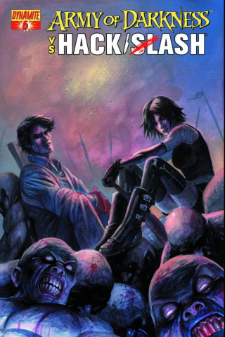 Army of Darkness vs. Hack/Slash #6 (Caselli Cover)