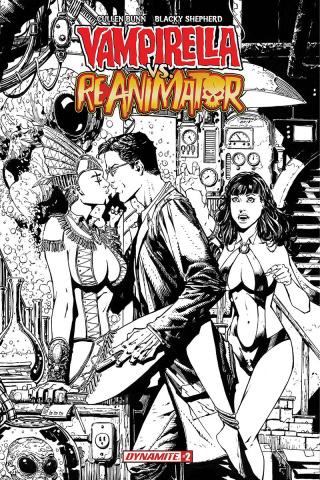 Vampirella vs. Reanimator #2 (20 Copy Desjardins B&W Cover)
